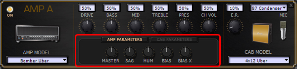 podhd-amp parameters