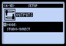 outputモード